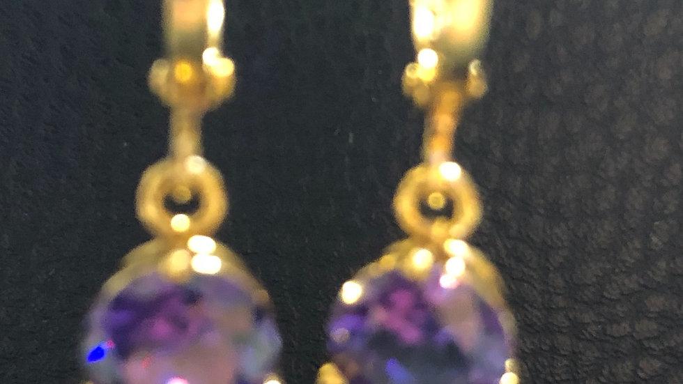 Purple Round Small Dangle