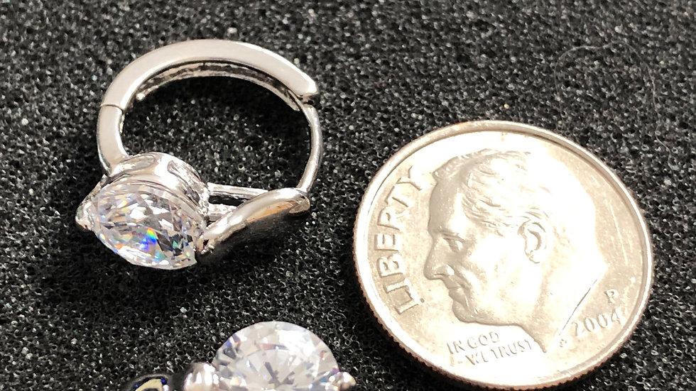 Medium Diamond Huggy Earrings