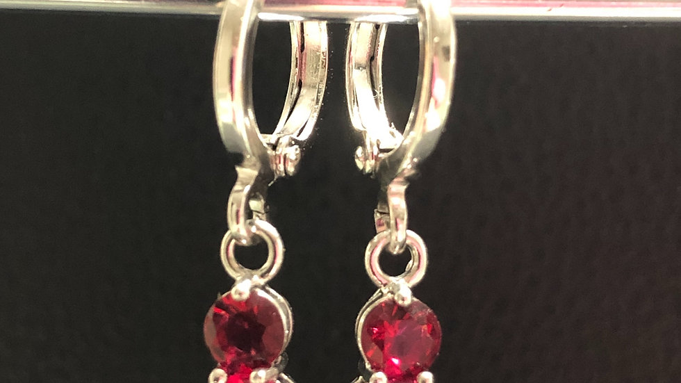 Red Pink Gem Dangle