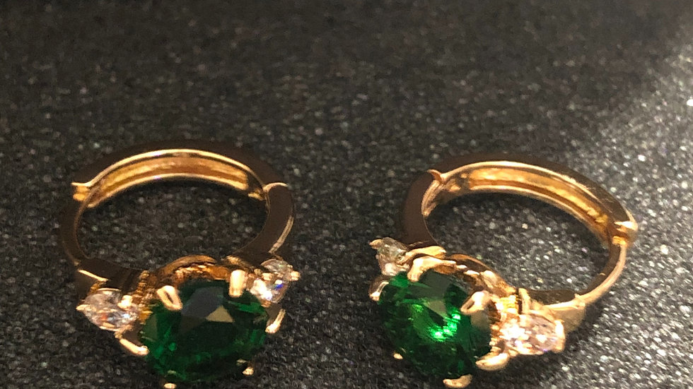 Green Huggie with Diamonds