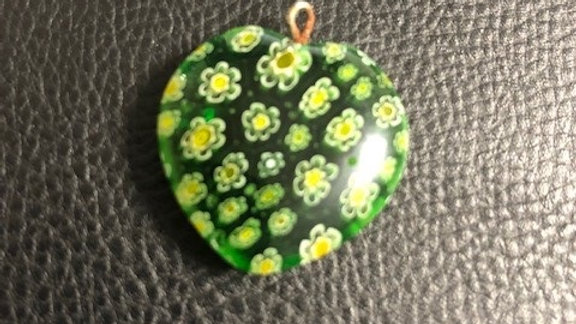 Murano Green Yellow Pendant