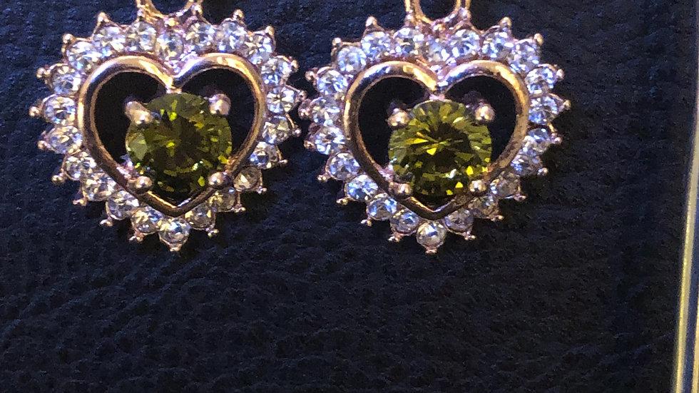 Green Heart Dangle