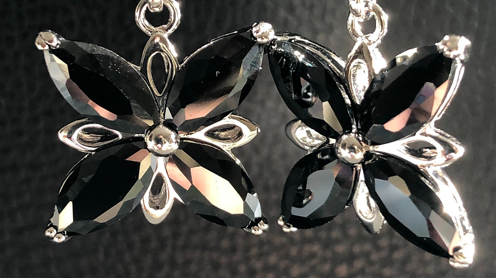 Black Onyx Star Dangle