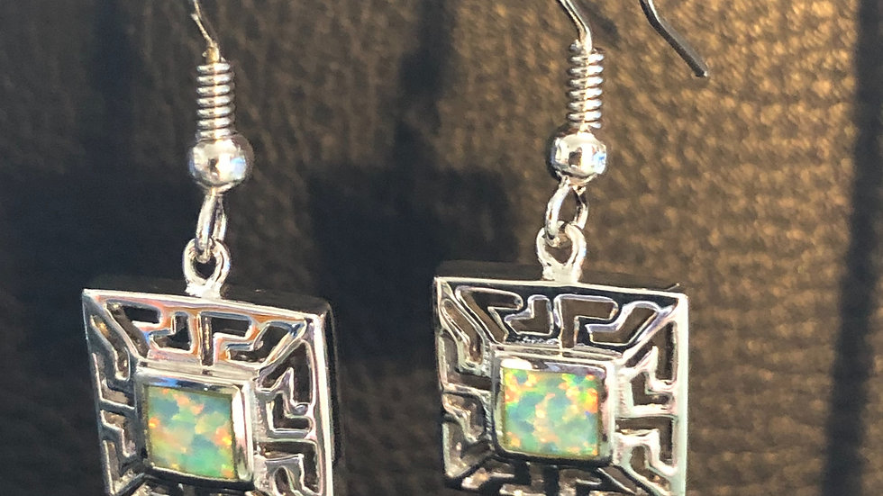Mint & Silver Square Hook