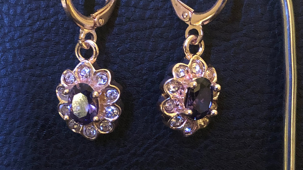 Purple Flower Dangle