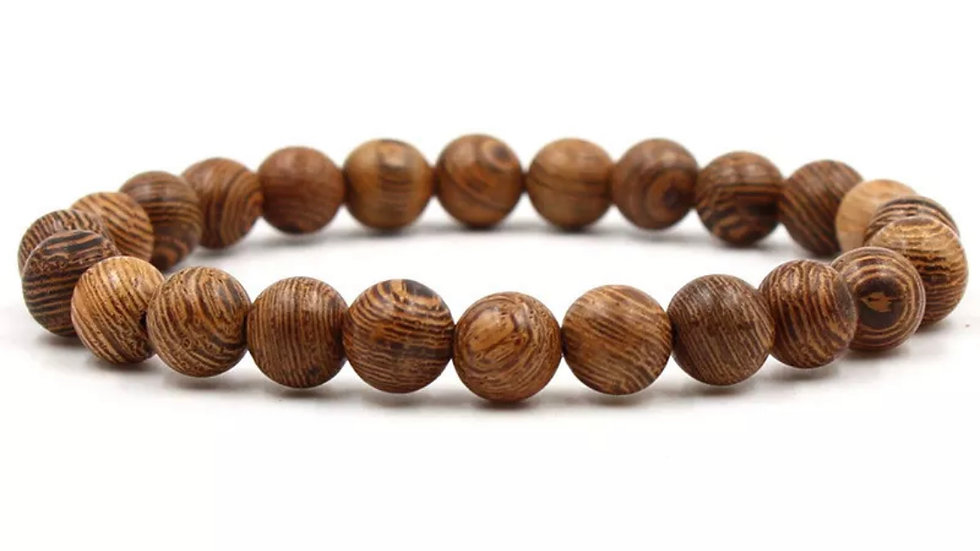 Brown Wooden Bracelet (7.5) 8mm