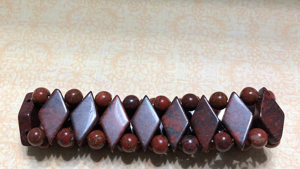 Mahogany Brown Diamond Shape Bracelet