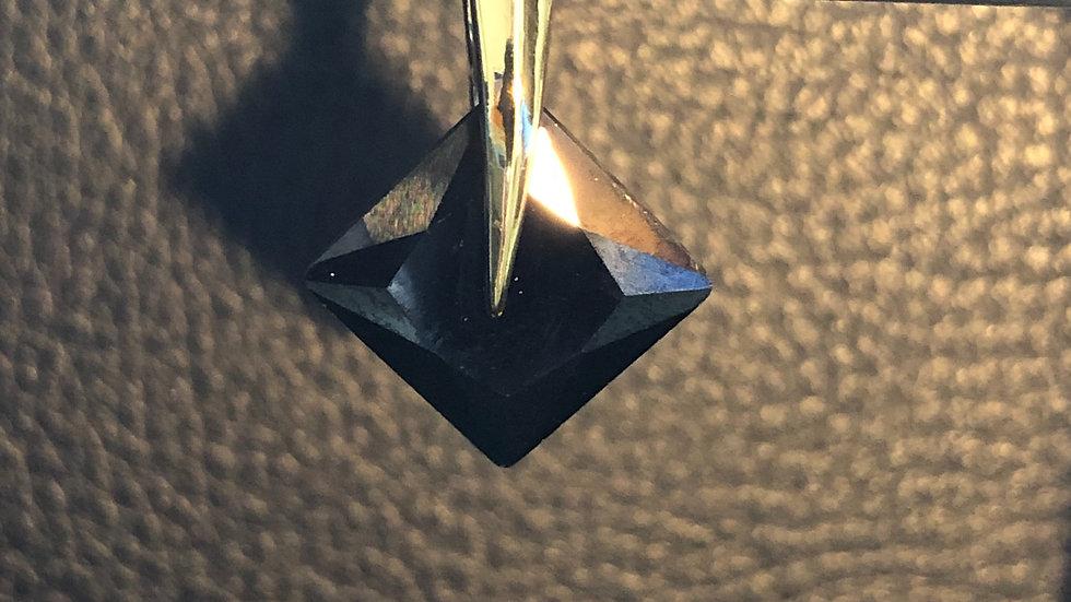 Black Diamond Shape Pendant
