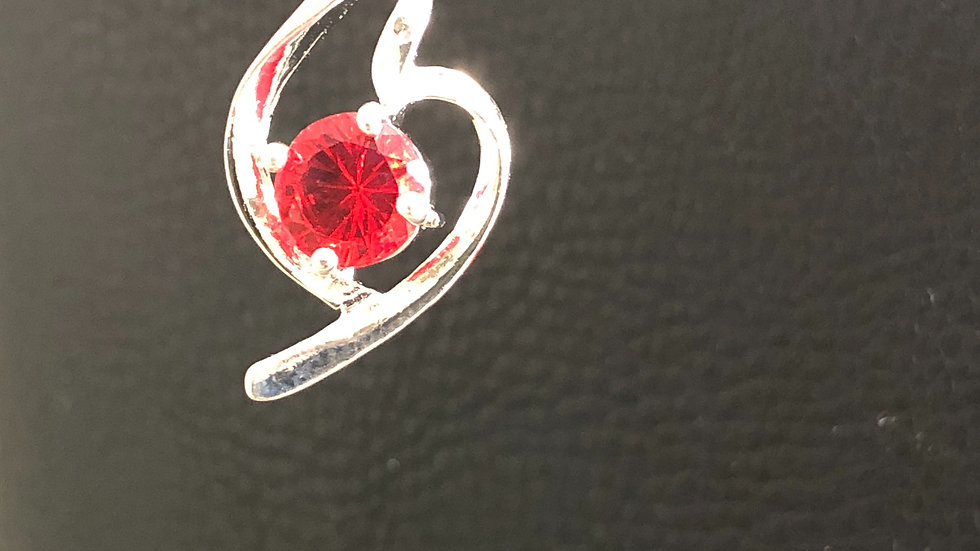 Silver Red Pendant