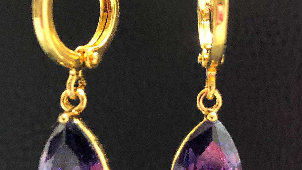 Purple Tear Drop Gold