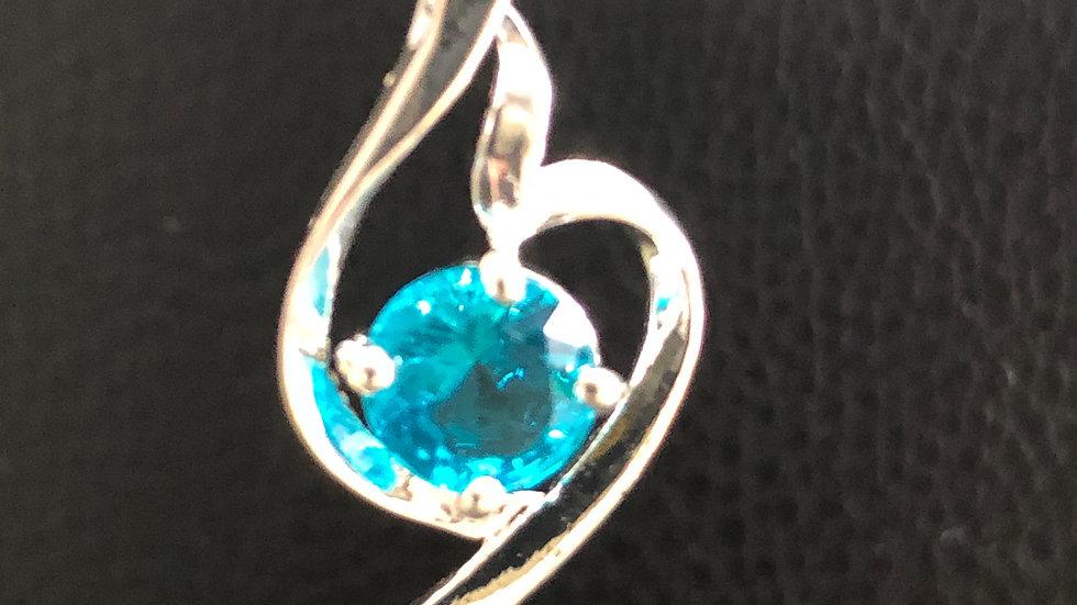Silver Aqua Pendant