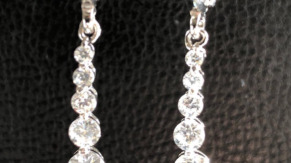 Silver Diamond Dangle