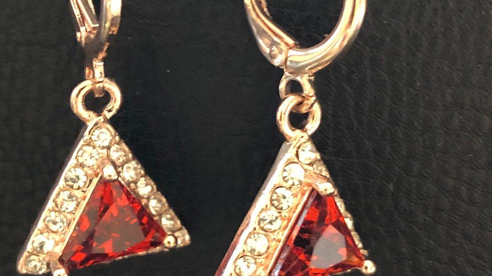 Red Triangle Dangle
