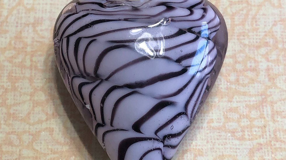 Murano Purple Heart Glass Pendant