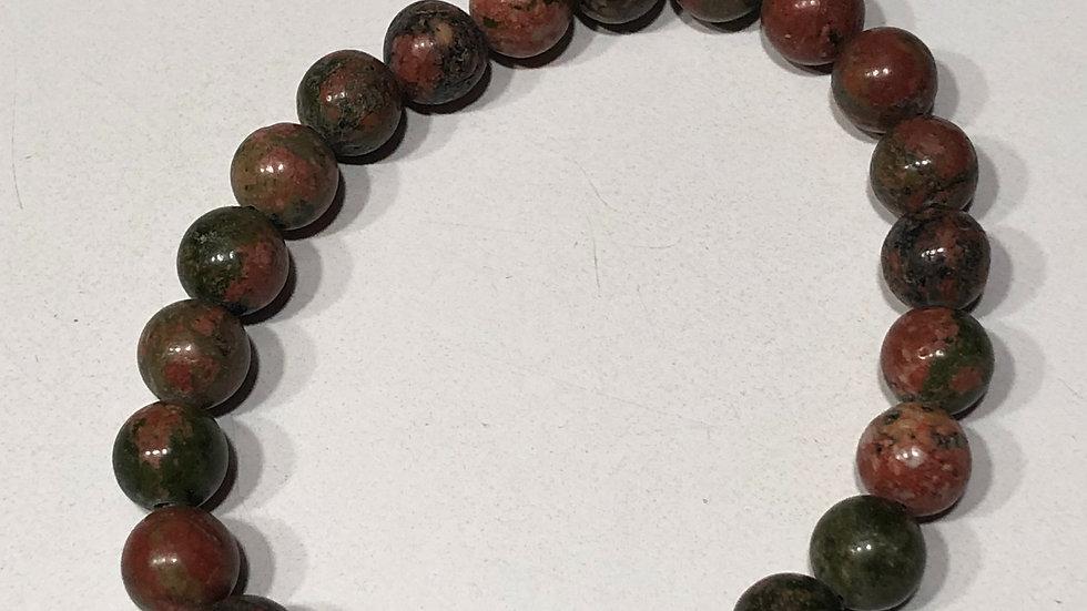 Green & Brown Agate Stone Bracelet