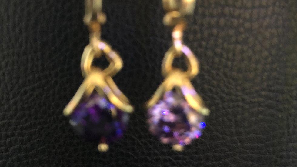 Purple Chic Dangle