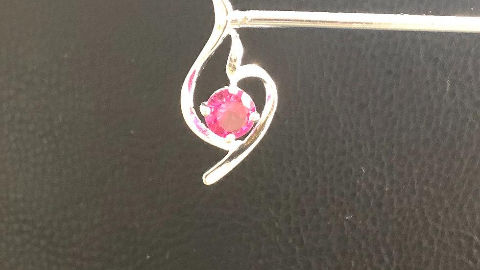 Silver Pink Pendant
