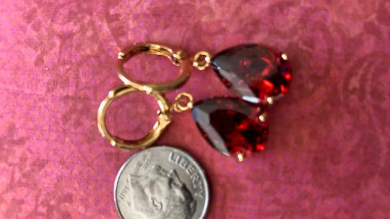 Red Tear Drop Dangle