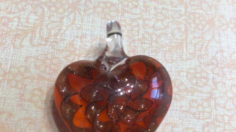 Murano Red Heart Glass Pendant
