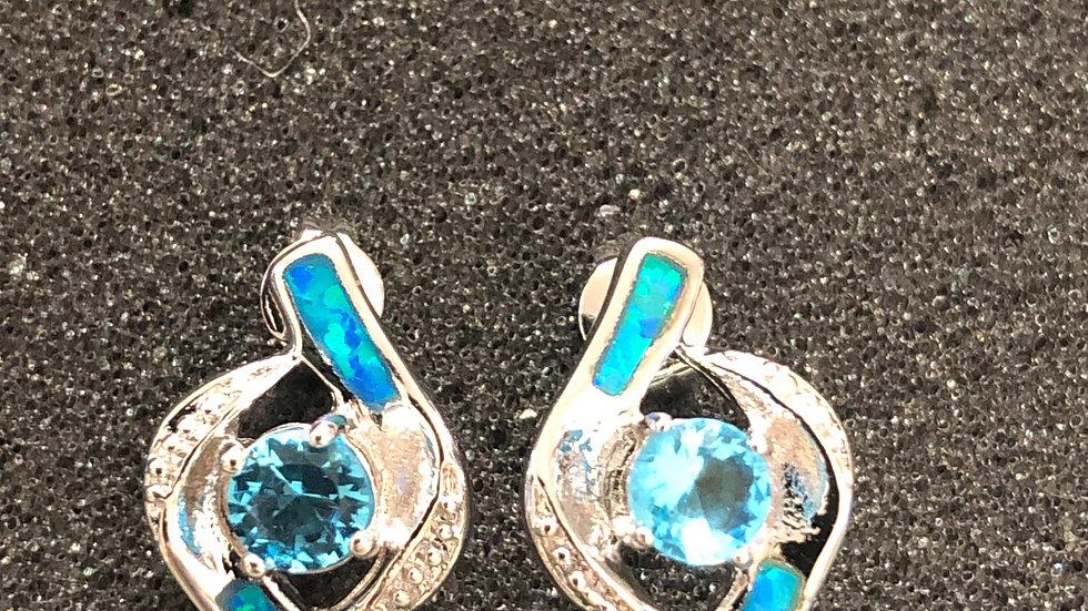 Turquoise Twirl Stud