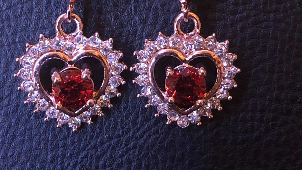 Red Heart Dangle