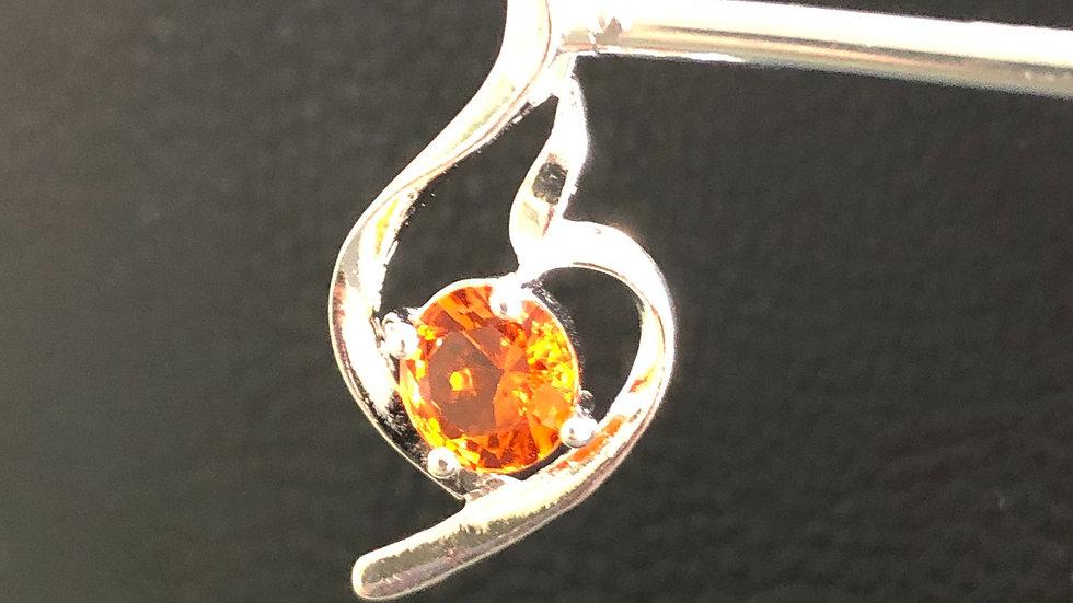 Silver Orange Pendant