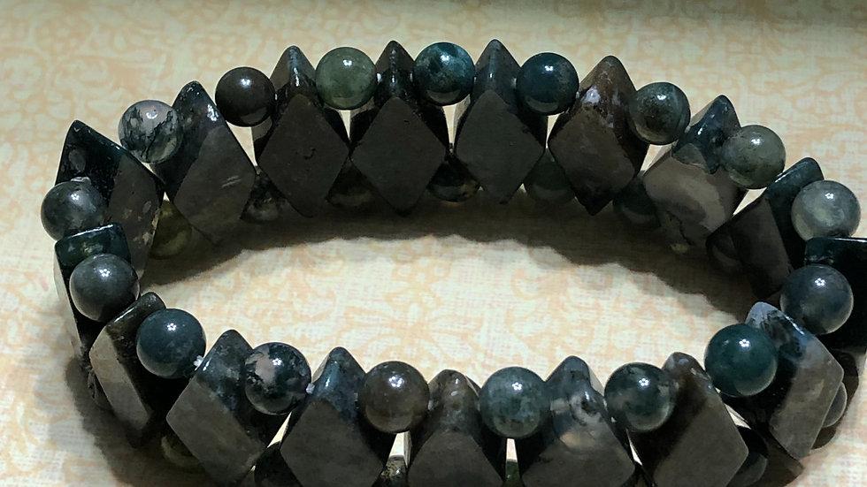 Dark Green Diamond Shape Bracelet