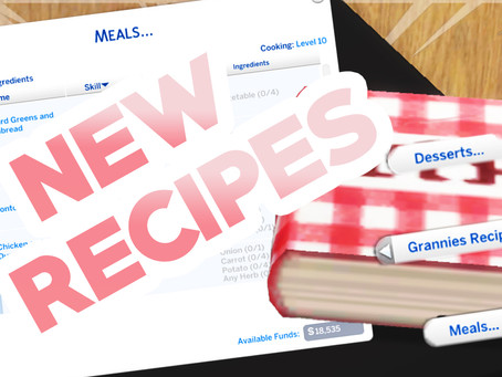 NEW RECIPE BOOKS FOR YOUR SIMS