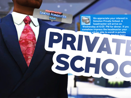 SIMS 4 PRIVATE SCHOOL MOD