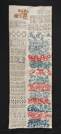 A 17th c. drawn thread sampler