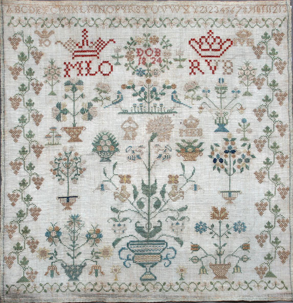 Dutch sampler dated 1824