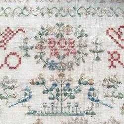 DOB 1824 Deventer, antieke merklap