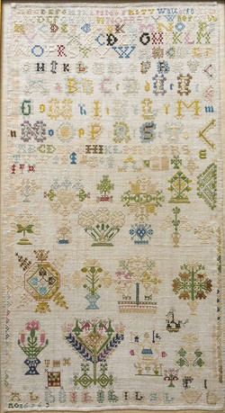 Antique Dutch sampler dated 1676