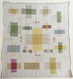 Dutch darning sampler 1742