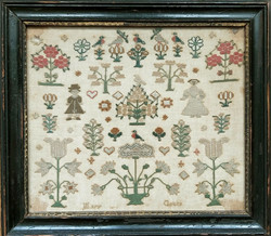 English miniature sampler by Mary Green