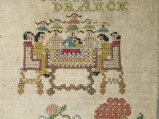 Last Supper on German 1755 sampler