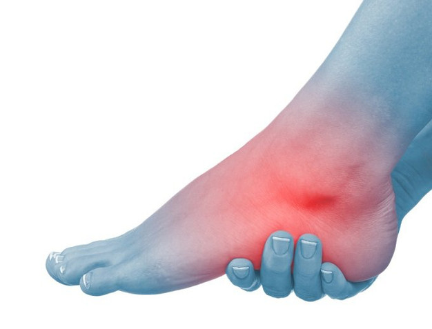 E lesiones en dolor hinchazón el tobillo sin
