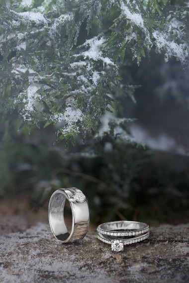 Platinum rings photography
