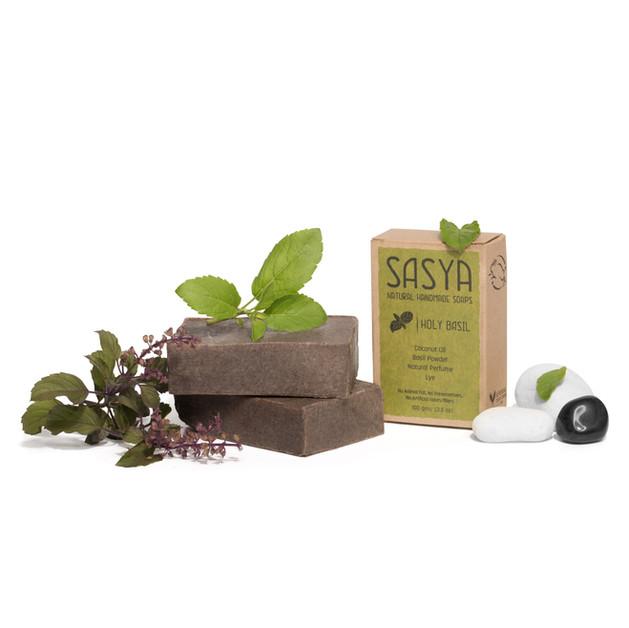 Sasya soap photography for website