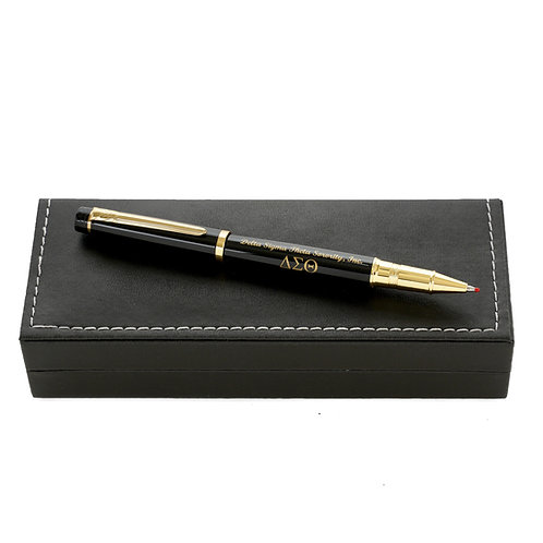 DST Writing Roller Black Metal Pen with Box