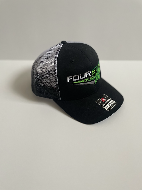 Four Star Black & White Fade Hat