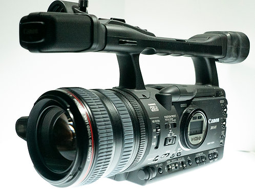 used - Canon XH A1 3CCD HD Camcorder with Petrol semi-hard bag.