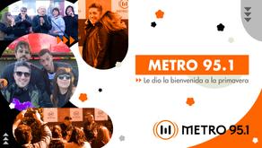 Metro 95.1 le dio la bienvenida a la primavera con una transmisión especial al aire libre