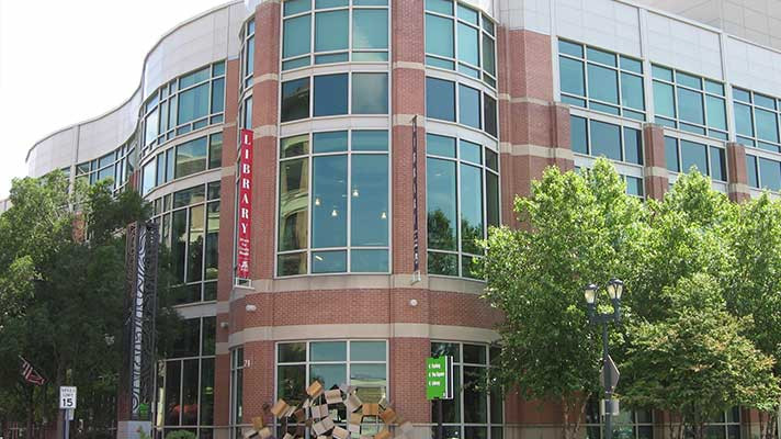 library rockville building silver spring montgomery county maryland