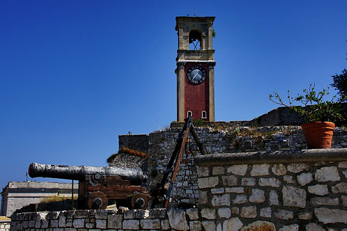 Corfu Old Fortress Clock Tower