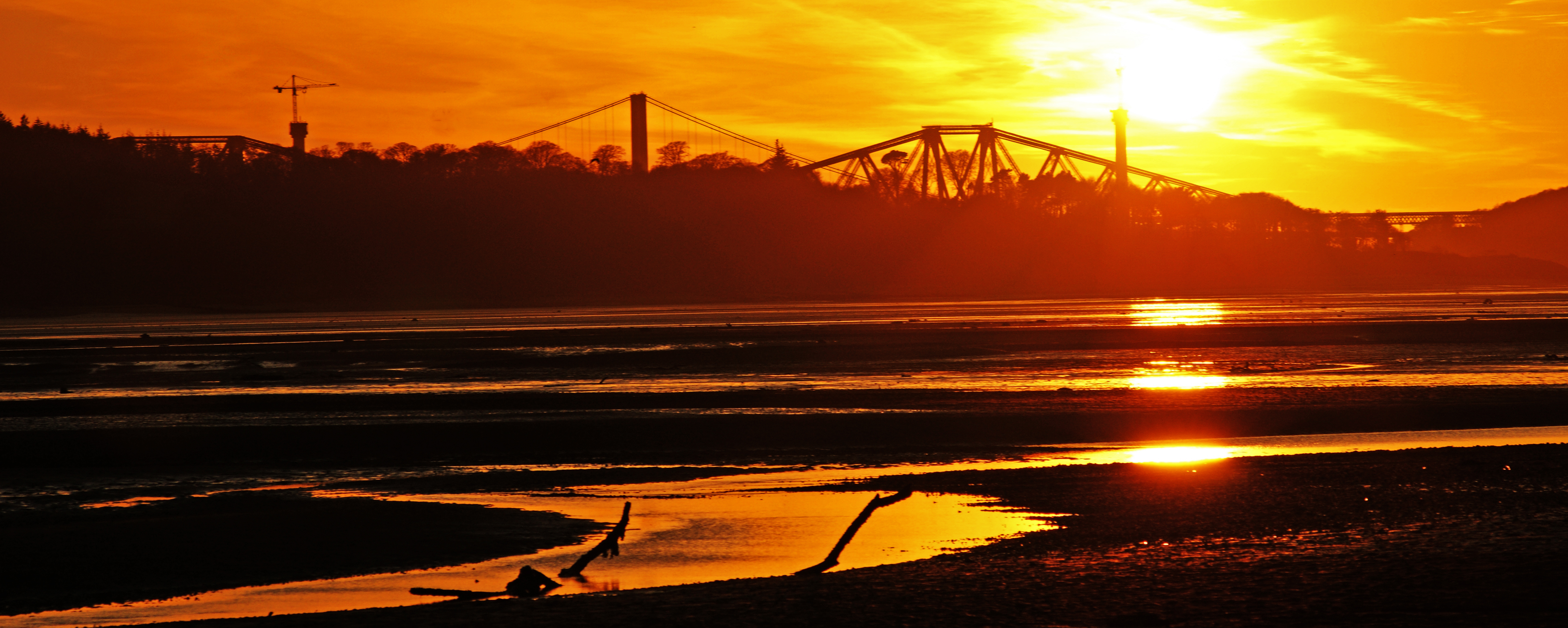 Forth Rail Bridge Sunset from Crammond I