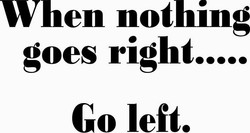 IF NOTHING GOES RIGHT