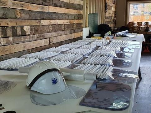 COVID-19 - Marine Canvas Hut's face shields donation