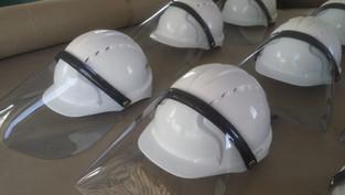 COVID-19 - Visors for hard hats