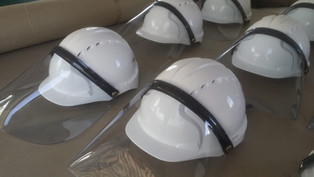 COVID-19 - Visors for hard hats